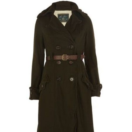 """<p>This full-length military coat is amazing. Belted, minimal and looks luxer than a high street piece</p><p>£99.99, <a target=""""_blank"""" href=""""http://www.riverisland.com/Online/women/coats--jackets/coats/khaki-double-breasted-belted-military-coat-593121 """">riverisland.com</a></p>"""