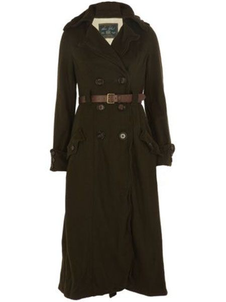 "<p>This full-length military coat is amazing. Belted, minimal and looks luxer than a high street piece</p>  <p>£99.99, <a target=""_blank"" href=""http://www.riverisland.com/Online/women/coats--jackets/coats/khaki-double-breasted-belted-military-coat-593121 "">riverisland.com</a></p>"