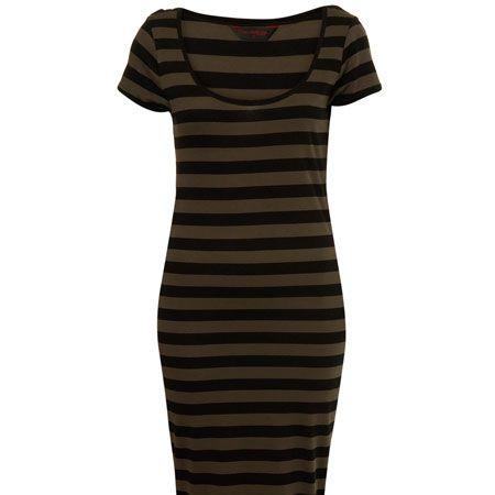 "<p>Midi is the new maxi and khaki is huge this season. This stripy dress ticks all the trends</p><p>£22, <a target=""_blank"" href=""http://www.missselfridge.com/webapp/wcs/stores/servlet/ProductDisplay?beginIndex=0&viewAllFlag=&catalogId=33055&storeId=12554&productId=2009522&langId=-1&sort_field=Relevance&categoryId=208023&parent_categoryId=208022&sort_field=Relevance&pageSize=40&beginIndex=1"">missselfridge.com<br /></a></p>"