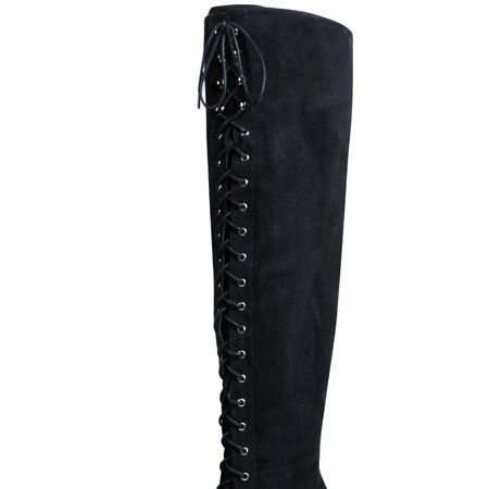 """<p>Lengthen those legs with longitudinal lace-ups this winter!</p><p>£49.50, <a target=""""_blank"""" href=""""http://www.evans.co.uk/webapp/wcs/stores/servlet/ProductDisplay?beginIndex=0&viewAllFlag=&catalogId=33054&storeId=12553&productId=1989052&langId=-1&categoryId=&parent_category_rn=&cmpid=COS21L29HBLK0910"""">Click here</a>  to buy at evans.co.uk</p>   <p><p>Don't forget to get your 20% discount to spend at evans.co.uk by going back to our <a href=""""http://www.cosmopolitan.co.uk/fashion-&-style/evans-landing-page/special"""">evans page</a>.</p>"""