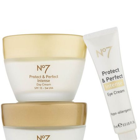<p>No7's Protect & Perfect range is unstoppable. Amongst the anti-ageing wonder products there's the new Intense Eye Cream and Intense Body Serum, both seriously hard working yet affordable, and now the first ever 5-star SPF15 rated day moisturiser. It harnesses the famous anti-ageing properties the Protect & Perfect serum provides but with unbeatable UVA protection to repair and prevent at the same time. It promises results in just four weeks. Amaze. </p><p>No7 Protect & Perfect Intense Day Cream with 5-star UVA, £20.50, Boots</p>