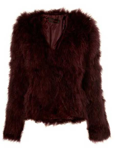 """<p>Ruffle some feathers in this berry-stained twist on the classic feather coat</p><p>£110, <a target=""""_blank"""" href=""""http://www.missselfridge.com/webapp/wcs/stores/servlet/ProductDisplay?beginIndex=0&viewAllFlag=&catalogId=33055&storeId=12554&productId=2009538&langId=-1&sort_field=Relevance&categoryId=208022&parent_categoryId=&sort_field=Relevance&pageSize=40&beginIndex"""">missselfridge.com</a></p>     <a href=""""http://www.missselfridge.com/webapp/wcs/stores/servlet/ProductDisplay?beginIndex=0&viewAllFlag=&catalogId=33055&storeId=12554&productId=2009538&langId=-1&sort_field=Relevance&categoryId=208022&parent_categoryId=&sort_field=Relevance&pageSize=40&beginIndex""""></a></p>"""