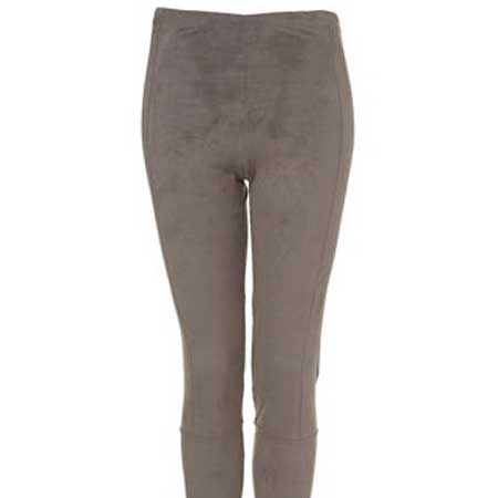 <p>Suede is making a come-back and these leggings are so touchably-soft. We won't be held responsible if they lead to some leg-stroking action</p>