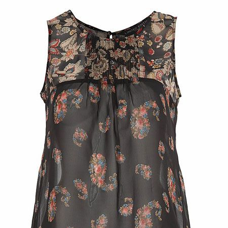 <p>This gypsy print top is boho chic as well as ticking the on-trend 70's box. Perfect for the seminar to student union transition.</p>