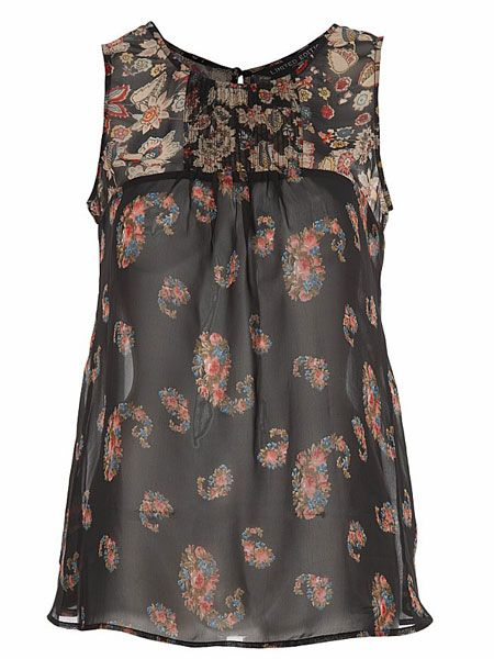 "<p>This gypsy print top is boho chic as well as ticking the on-trend 70's box. Perfect for the seminar to student union transition.</p>  <p>£25<a target=""_blank"" href=""http://www.newlook.com/shop/womens/tops/gypsy-print-cami_198901809?icSort=+sortDisplayPrice&extcam=AFF_AFW_ShopStyle+UK"">, newlook.com</a></p>"