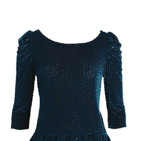 <p>Velvet, tick, polka dot, tick, frill detail, tick. This textured top is ticking all the boxes for our going out wardrobe right now.</p>