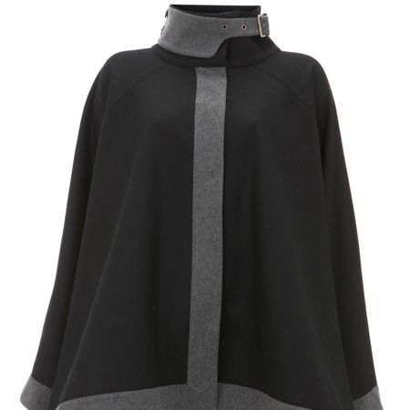 <p>Cape is the shape this season! We love this chic charcoal offering new in at Warehouse</p>