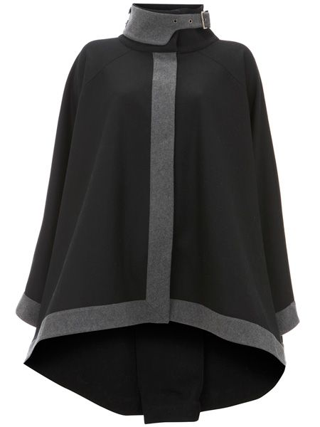 "<p>Cape is the shape this season! We love this chic charcoal offering new in at Warehouse</p>  <p>£90, <a target=""_blank"" href=""http://www.warehouse.co.uk/warehouse/fcp-product/302687#GBP"">warehouse.co.uk</a> </p>"