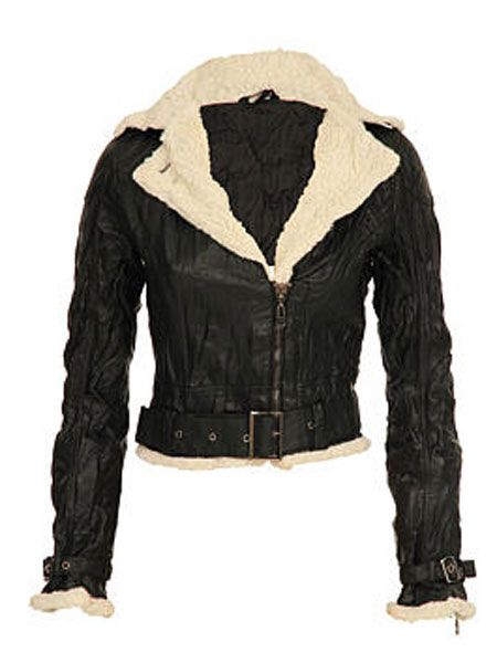 """<p>A weathered and distressed effect is the order of the day with this jacket, with added belts and buckles thrown in for free</p>  <p>£55, <a href=""""http://www.usc.co.uk/Abandon-Gisele-Fur-Aviator-Jacket/00193470800900,default,pd.html?cgid=WS"""" target=""""_blank"""">usc.co.uk</a></p>"""
