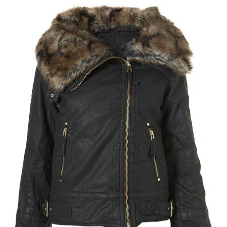 <p>Away with the shearling and in with the fur, this is Topshop's take on the Aviator trend</p>