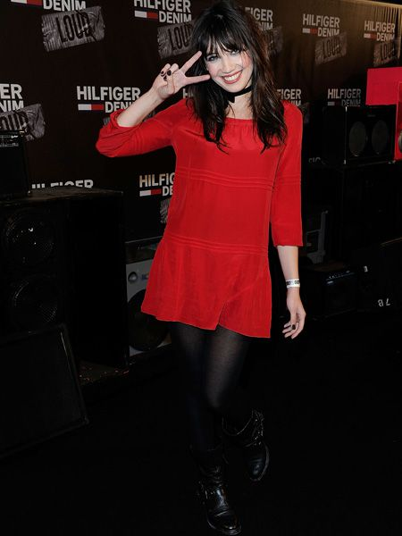 <p>Daisy Lowe helped launch the new 'Hilfiger Denim Loud' fragrance wearing a hot red shift dress with a black bow choker and grungy boots. Does the ensemble work or would the items look better if they weren't part of the same outfit? </p>