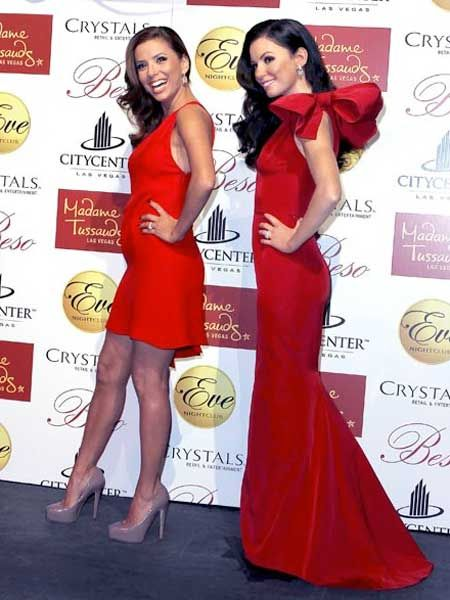 <p>Get your celebrity gossip fix with Cosmo's pick of the showbiz sightings  this week</p>  <p>Eva Longoria has been immortalised in wax and posed next to it at Madame Tussauds in Las Vegas. We can barely tell them apart</p>