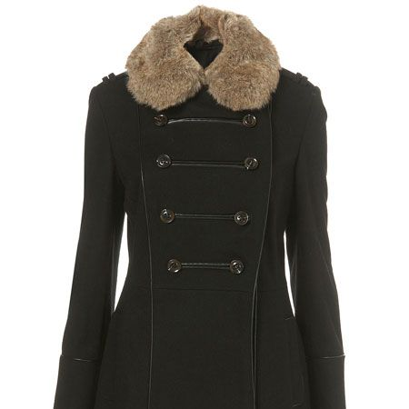 """<p>Military jackets are on our wish list this season, there are so many different varieties you'll be sure to find one that suits you. Long, mid-length, cropped, blue, khaki, red, black, buttons, studs, fur, double-breasted... we've got them all here!<br /></p><p> </p><p>Think Russian Military with this fur lined collar jacket, both warm and pretty, be quick before it disappears from the rails </p><p> </p><p>£95, <a target=""""_blank"""" href=""""http://www.topshop.com/webapp/wcs/stores/servlet/Produ%20%20ctDisplay?beginIndex=0&viewAllFlag=&catalogId=33057&st%20%20oreId=12556&productId=1952033&langId=-1&categoryId=&se%20%20archTerm=military&pageSize=20"""">topshop.com</a> <br /></p>"""