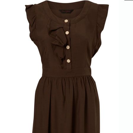 """<p>This frilly utility dress is sweet as chocolate and the price is just as delicious! Team it with some tough hiking boots for a fresh and funky winter look</p><p> </p><p>Chocolate Dress, £36 at <a href=""""http://www.missselfridge.com/webapp/wcs/stores/servlet/ProductDisplay?beginIndex=0&viewAllFlag=&catalogId=33055&storeId=12554&productId=2011942&langId=-1&sort_field=Relevance&categoryId=208036&parent_categoryId=208035&sort_field=Relevance&pageSize=40"""" target=""""_blank"""">www.missselfridge.com</a></p>"""