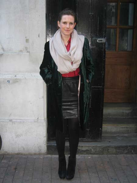 <p>Tabatha nails the fashionista look with her elegant emerald velvet coat, teamed with an on-trend leather skirt. We think this lady might've had her nose in a few fashion magazines as well as text books for her Biochemistry course at UCL! Is hers your favourite look?</p>
