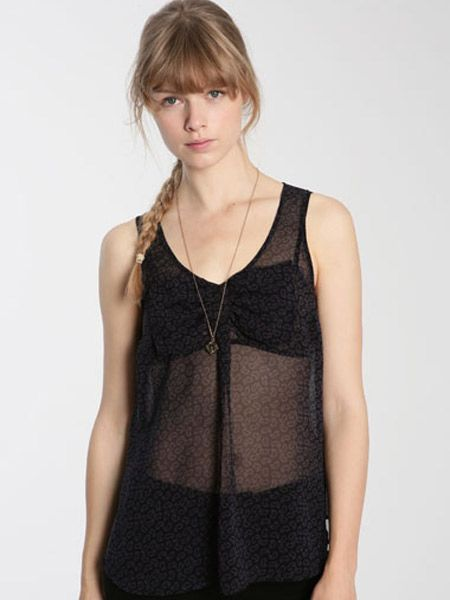 """<p>Sheer blouses are sizzling this season. Whilst this won't keep you warm it will look super hot come Saturday night</p><p>£38, <a target=""""_blank"""" href=""""http://www.urbanoutfitters.co.uk/Ecote-Sleeveless-Paisely-Bow-Front-Blouse/invt/5110462178742&bklist=icat,5,shop,womens,womenscollections,newforspringwomens"""">urbanoutfitters.co.uk</a>   </p>"""