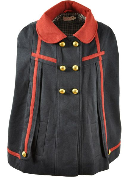 """<p>This cape is a must-buy. It mixes heritage, military and vampy Halloween-esque styles. We want!</p><p>PLUS, Dahlia celebrates it's 10th birthday this week with 10% off from Thursday to Sunday. The promo code to enter is BIRTHDAY</p><p><a title=""""Dahlia Fashion"""" href=""""http://www.dahliafashion.co.uk/product_info.php?products_id=220"""" target=""""_blank"""">dahliafashion.co.uk</a></p>"""