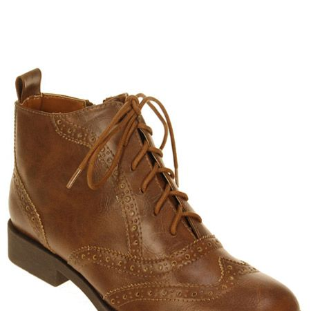 <p>We love these brogues that are half way between shoes and boots. Perfectly practical, but hot to trot</p>