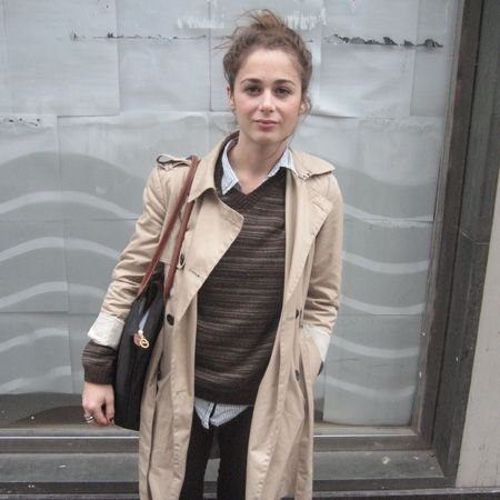 <p>Marsida Rexhepaj is studying BA Curation at Central St Martins and knows the power of a classic piece of outerwear.</p>