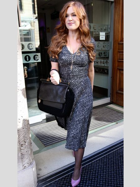 <p>The A-list are embracing the great outdoors this season in all things heritage inspired, from tweeds to tartan and snugly shearling</p>  <p>Left: <strong>Isla Fisher</strong> could easily pass for a Brit in her tweed Dolce&Gabbana dress</p>