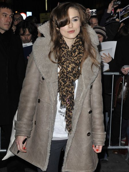 Keira got in on the aviator trend early cosy-ing up in an oversized shearling jacket earlier this year
