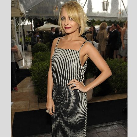 <h3>Nicole Richie</h3><br /> Nicole Richie attended a fash bash in a monochrome, trippy printed dress with minimal accessories and this season's plum coloured pout. Are you a fan of her latest fashion direction or would you rather she brought bohemian back?