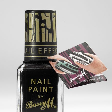 """<p>Those clever beauty boffs at Barry M have created a one-of-a-kind nail paint which gives you a nail art effect with one coat of polish. All you do is paint your nails with your fave colour then apply a layer of the Instant Nail Effects on top which crackles as it dries to create a super-cool pattern. It's magic! </p><p>£3.95, watch a tutorial and buy at <a target=""""_blank"""" href=""""http://www.barrym.com/products/product.asp?id=155 """">barrym.com</a></p>"""