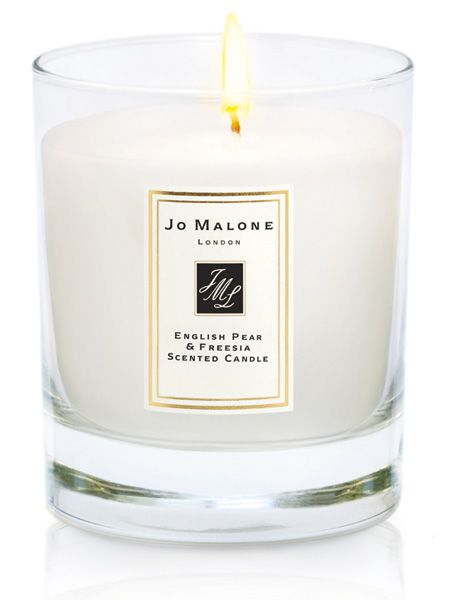 "We'll never meet a mum who would be disappointed with a Jo Malone gift. It's hard to choose between the indulgent body cremes, shower gels and bath oils but the luxe home candles with the scents of their famous fragrances are always a winner <p>£38, <a href=""http://www.jomalone.co.uk/product/3789/12847/For-The-Home/Home-Candles/Fruity/English-Pear-Freesia/Home-Candle/index.tmpl"" target=""_blank"">jomalone.co.uk</a></p>"