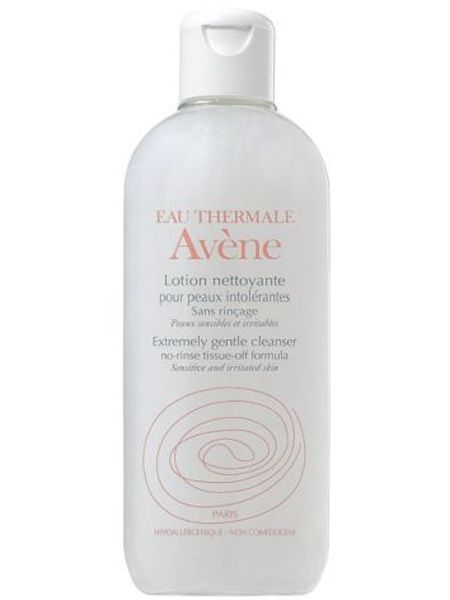 """<p>Ensure you use a gentle cleanser that suits sensitive skin, even if yours isn't normally. Avene has a skin-loving one that whilst extremely delicate, removes all face and eye makeup</p>  <p><strong>Avene Extremely Gentle Cleanser</strong>, £7.83, <a target=""""_blank"""" href=""""http://www.boots.com/en/Eau-Thermale-Avene-Extremely-Gentle-Cleanser-200ml_1576/"""">boots.com</a></p>"""