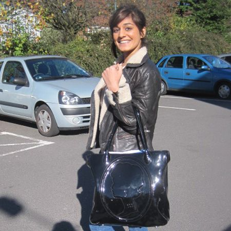 Kalpana is 20 and studying English at Nottingham. We love her aviator jacket and outsized tote bag<br />