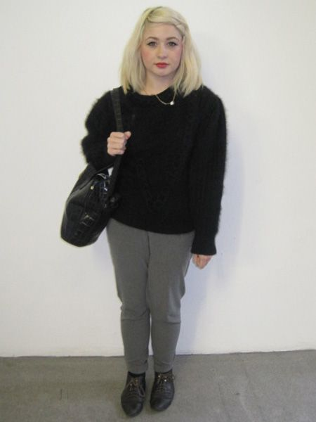 Jennifer Cowie is 19 and studying Visual Merchandising at London College of Fashion. We love her cosy jumper and brogues combo!<br />