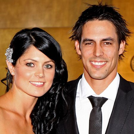 Team Australia's Mitchell Johnson hasn't just scored himself a beautiful fiancée in Jessica, she's also fighting fit as a champion in Karate - go girl!