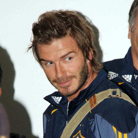 Are they part of an exchange? While Aussie star Kylie is in the US, the usually California-based David was making a trip Down Under with his LA Galaxy football team. We definitely like his new rugged look - although we're fans of clean-shaven Dave too. We'd basically take him however, that Victoria is a very lucky woman!  <br />