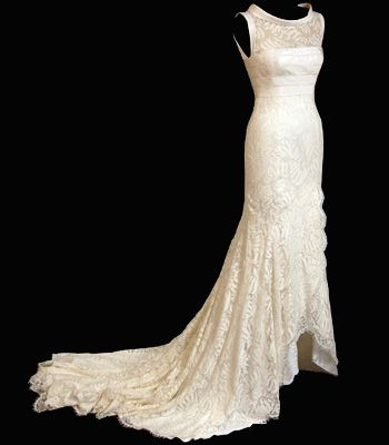 """<p><strong>Designer: Bruce Oldfield </strong></p>  <p>Kate's figure would look amazing in this dress which features a lace train, perfect for that stately entrance</p>  <p>See more at <a href=""""http://www.bruceoldfield.com/"""" target=""""_blank"""">bruceoldfield.com</a></p>"""