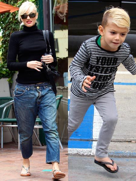 Click on to see the celebs posing for the paps...<br /><br />Left: <strong>Gwen Stefani</strong> is one cool, modern mum. The singer took her four-year-old son Kingston, dressed in skinny jeans and flip flops, for a manicure and pedicure in an LA salon and he later emerged with a dazzling set of multi-coloured nails.  <br />