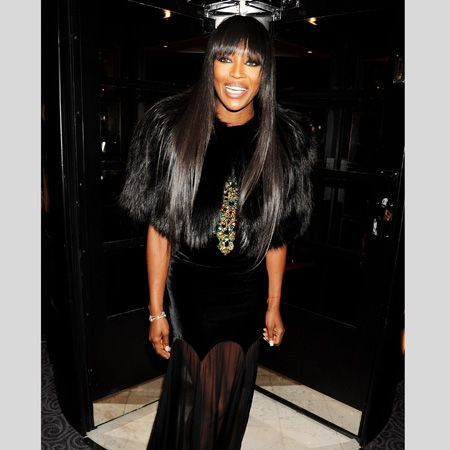 <p>Wow, Naomi showed how fashion is done at the big awards wearing a sheer-skirted velvet dress by the late Alexander McQueen with a faux (we hope) fur shrug. Is this the kind of LBD you want from a fashionista?</p>