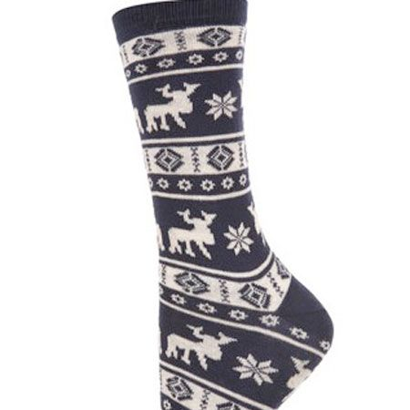 "<!--[if gte mso 9]><xml>     Normal   0   0   1   20   114   1   1   140   11.773          </xml><![endif]-->If you can't face a Christmas jumper but you still want some festive fashion items, these navy moose print socks nod at the Nordic trend.<br /><br />£3.50, <a target=""_blank"" href=""http://www.topshop.com/webapp/wcs/stores/servlet/ProductDisplay?beginIndex=0&viewAllFlag=&catalogId=33057&storeId=12556&productId=2167436&langId=-1&sort_field=Relevance&categoryId=208491&parent_categoryId=&sort_field=Relevance&pageSize=200"">topshop.com</a>"