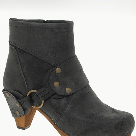 "These suede boots are both biker babe and clog-tastic and look great teamed with a pair of skinny jeans. The distressed fabric will make your friends think they are a rare vintage find and with 60 per cent off they are an absolute bargain<p><br />now £50, was £99.99, <a target=""_blank"" href=""http://www.asos.com/Sanita/Sanita-Buckle-Ankle-Clogs/Prod/pgeproduct.aspx?iid=1144403&cid=1931&sh=0&pge=0&pgesize=20&sort=-1&clr=Black"">asos.com</a></p><br />"