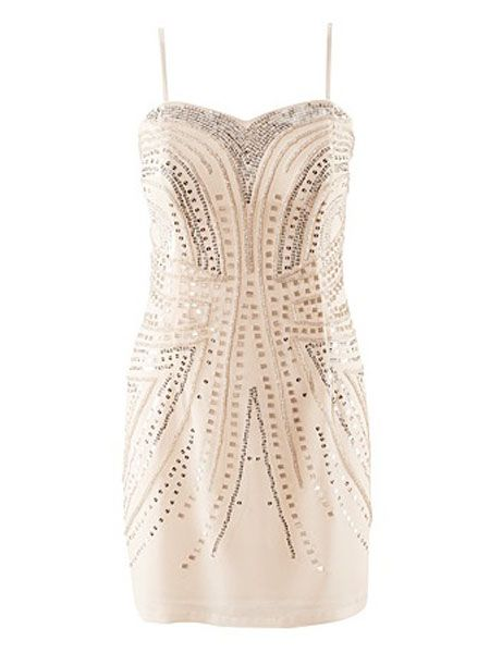 "<p>This bobby dazzler of a dress ticks all the boxes and you will feel like a million dollars. It's sexy, sparkly and such a bargain that you can't go wrong. Plus you can take off the straps and wear again in the new year</p><p> </p><p>£29.99 <a target=""_blank"" href=""http://shop.hm.com/gb/shoppingwindow?dept=DAM_KLAKJ_KLA&shoptype=S&ct=1292521206598"">hm.com </a><br /></p>"