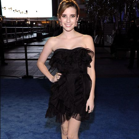 Proving she's got skills in the styling department as well as on screen, actress Emma Roberts donned a black ruffled dress from Dior's upcoming spring '11 collection. Paired with nude satin platforms, her look screams sophistication but is the style too old for the young star?<br />
