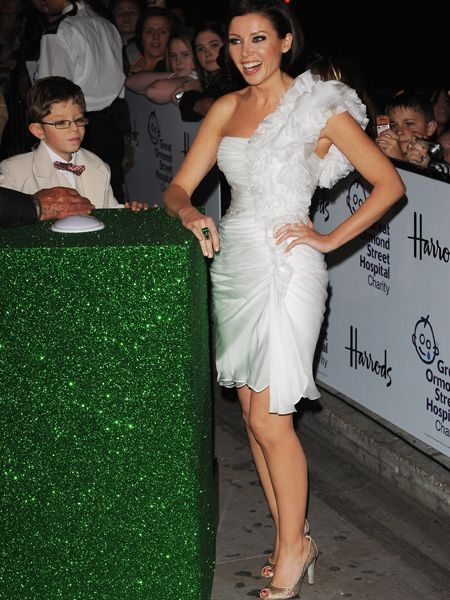 <p>The superstar recently switched on the Harrods Christmas lights wearing an illuminating white dress with an of-the-moment statement shoulder </p>