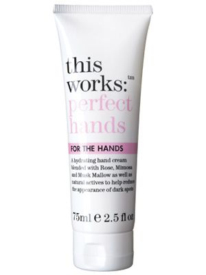 "This Works: Perfect Hands, £18, <a href=""http://www.boots.com/en/This-Works-Perfect-Hands_1001709/?CAWELAID=378751900&cm_mmc=Shopping%20Engines-_-Google%20Base-_---_-This%20Works%20Perfect%20Hands""target=""_blank"">Boots.com</a>"