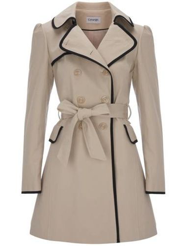 <p>We will always love a cool mac. This cream one's tres chic with its black trimming – perfect for covering up your workwear</p>   <p>£30, George at Asda</p>