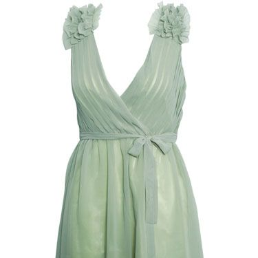 """<p>This minty chiffon dream is perfect for garden parties! Be sure to pair it with nudes and simple gold jewellery</p><p>Ruffle shoulder chiffon dress, £35, <a href=""""http://www.rarefashion.co.uk/clothing/dresses/party-dresses/ruffle-shoulder-chiffon-dress.html"""" target=""""blank"""">rarefashion.co.uk</a></p>"""