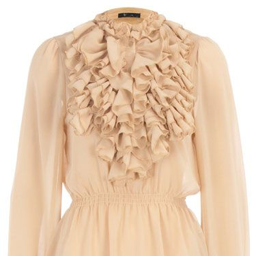 """<p>You'll be a vision in this vintage inspired chiffon blouse from Dorothy Perkins. Dress it down with a pair of skinny jeans and flats for a laidback look</p><p>Yellow ruffle neck top, £25, <a href=""""http://www.dorothyperkins.com/webapp/wcs/stores/servlet/ProductDisplay?beginIndex=0&viewAllFlag=&catalogId=33053&storeId=12552&productId=2259590"""" target=""""blank"""">dorothyperkins.com</a></p>"""