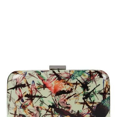 <p>Splurge on this hardcase clutch from Ted Baker- the most stylish way to store your things on a night out. The stunning new addition is part of their new dragonfly print collection, in stores now</p>