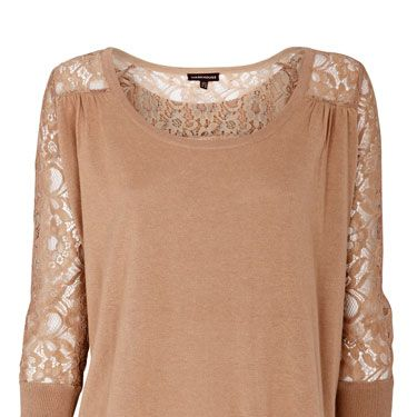 <p>Your favourite slouchy jumper just got a lacy update. In the colour of the season, this lace-back top from Warehouse is the epitome of casual chic</p>