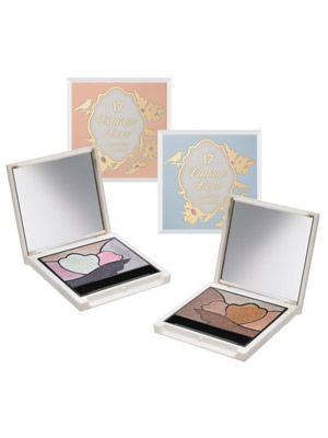 <p>How cute are these vintage style eyeshadow palettes from 17? Available in two colourways&#x3B; one a shimmering mix of metallic nudes, fawns, bronzes and browns, the other a blend of pretty pastels (the aqua green looks gorgeous next to the smouldering navy blue), look closely and you'll notice you actually get six eyeshadows for the price of one - bargain!</p>