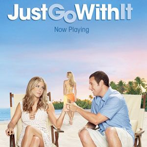 <b>Just Go With It (Jennifer Aniston, Adam Sandler) </b><br />Usually, Jennifer Aniston starring in a film equals kookie rom-com chick flick. This often involves her being unlucky in love and spending the film seeking the 'real thing'. But although this is a rom com, it's not the sickly kind that makes you queasy. When Danny (Adam Sandler) spins a lie to his latest love interest, he asks his loyal assistant Katherine (Jennifer Aniston) to pretend to be his ex-wife. With plenty of surprises, this is hilarious, sweet, and not too cheesy. And look out for a hilarious turn from Nick Swardson as Danny's brother. When he pretends to be a German sheep farmer, his faux accent is nothing short of hilarious...<br /><b>Joanna Abeyie</b>