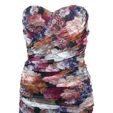 """<p>Ditch the wintery blacks and greys and opt for this floral fancy next time you're heading out on the town. Wear with neutral tones for a suitably spring look!</p><p>£49, <a href=""""http://www.rarefashion.co.uk/floral-mesh-tube-dress.html"""" target=""""blank"""">rarefashion.co.uk</a></p>"""